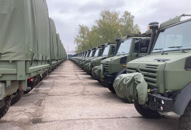 NSPA delivers 142 UNIMOG 5T tactical trucks to the Lithuanian Armed Forces
