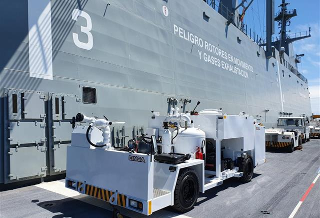 NSPA delivers new firefighting vehicle to the Spanish Navy